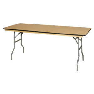 wood party table