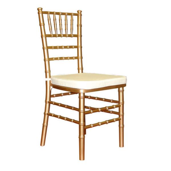 Chiavari Chair Gold with White Pad