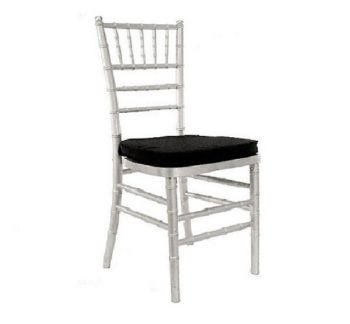 Chiavari Chair Silver with Black Pad