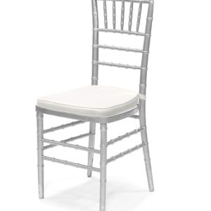 Chiavari Chair Silver with White Pad