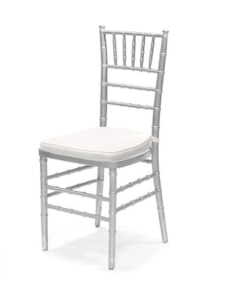 Chiavari Chair Silver with White Pad