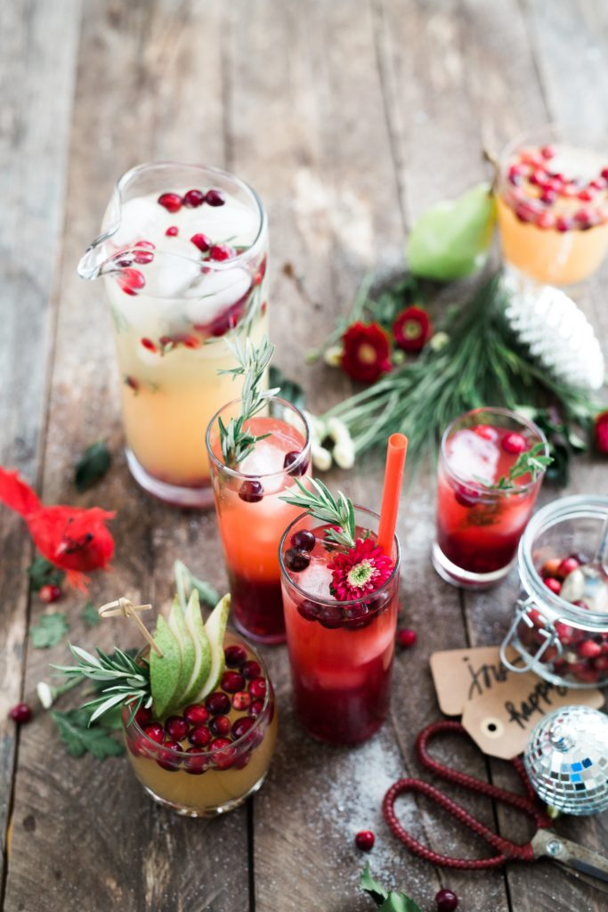 Christmas-themed drinks