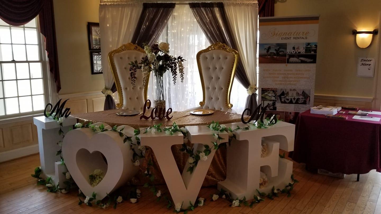 signature event rentals furniture setup