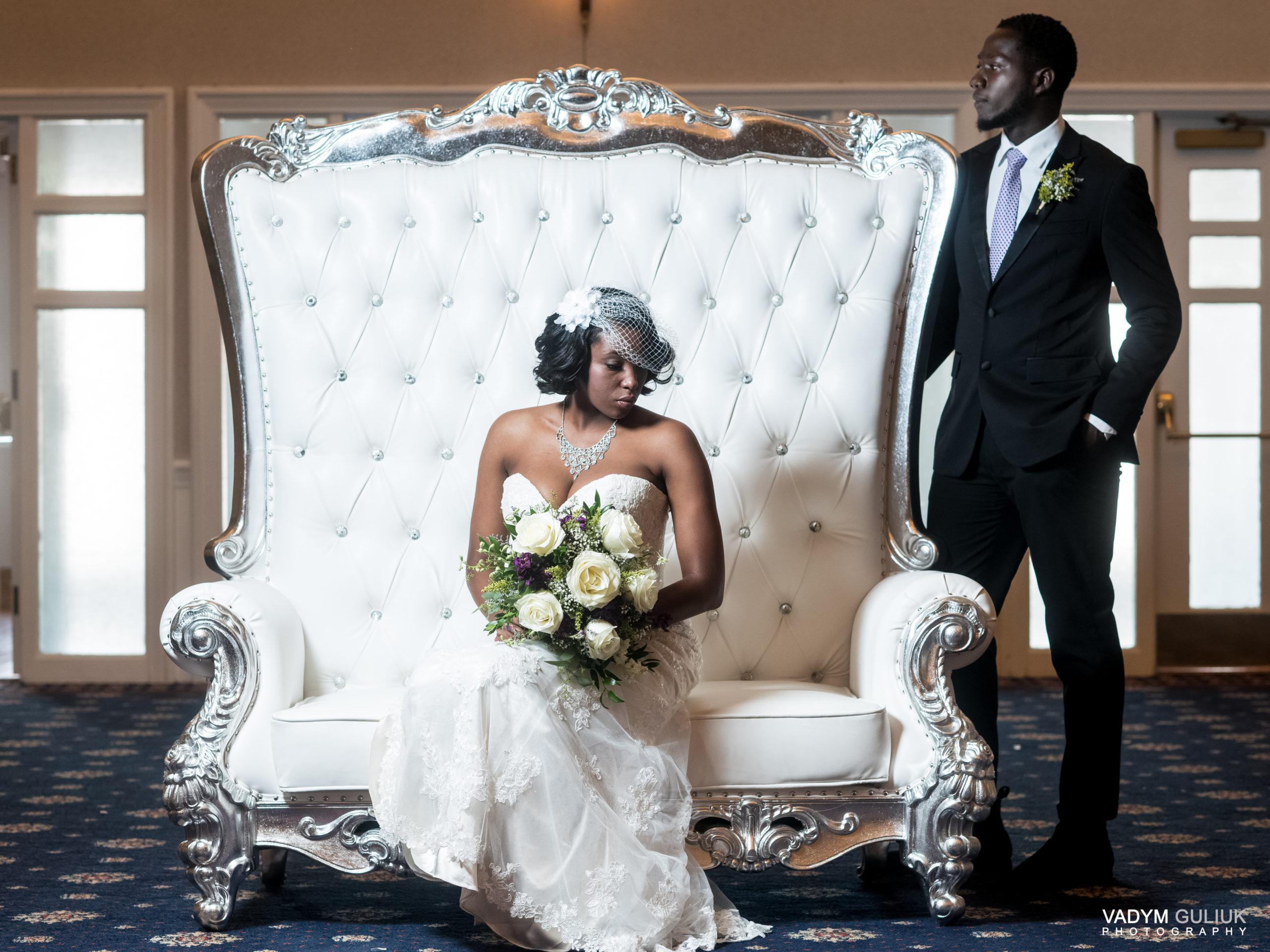 regal throne wedding shoot