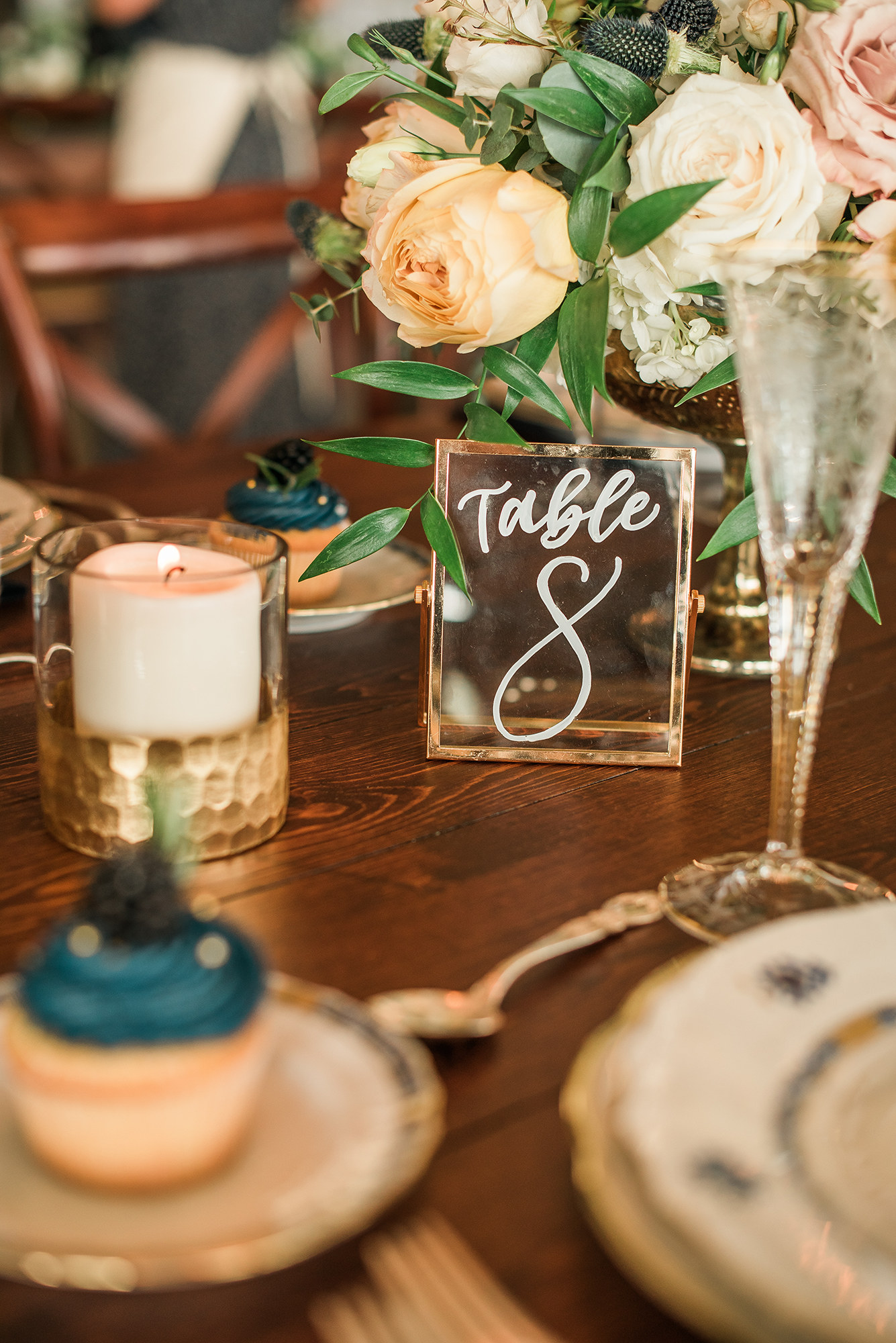 vintage table display, table 8
